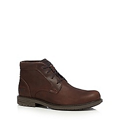 Caterpillar - Dark brown leather 'Brock' chukka boots