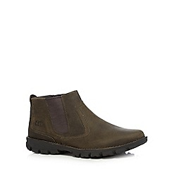 Caterpillar - Grey leather 'Hoffman' Chelsea boots