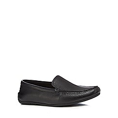 Clarks - Black leather 'Reazor Edge' slip-on shoes
