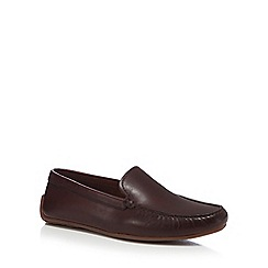 Clarks - Brown leather 'Reazor Edge' slip-on shoes