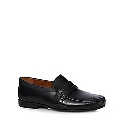 Clarks - Black leather 'Claude Aston' slip-on shoes