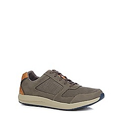 Clarks - Grey suede 'Sirtis Mix' trainers