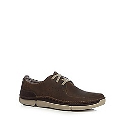 Clarks - Brown leather 'Trikeyon Fly' shoes