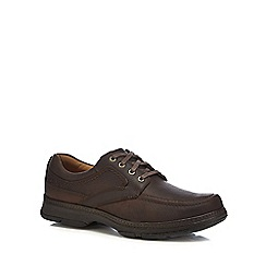 Clarks - Brown leather 'Star Stride' lace up shoes