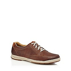 Clarks - Tan suede 'Stafford' trainers