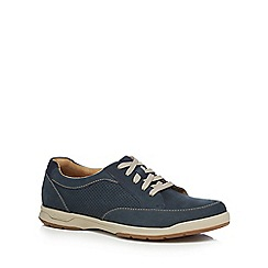 Clarks - Navy suede 'Stafford Parks' trainers