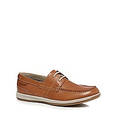 Clarks - Tan leather 'Fallston' boat shoes