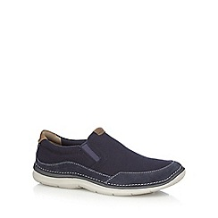 Clarks - Navy 'Ripton Free' slip-on shoes