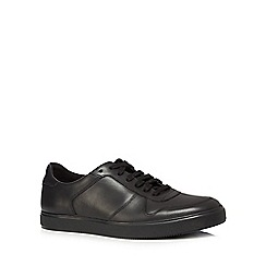 Clarks - Black leather 'Calderon' lace up trainers