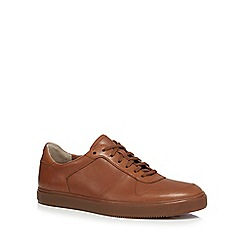 Clarks - Tan leather 'Calderon' trainers