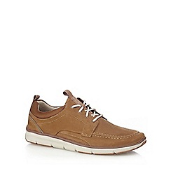 Clarks - Tan suede 'Orson Bay' trainers