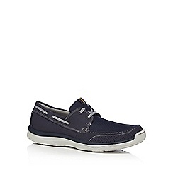 Clarks - Navy 'Marus Edge' shoes