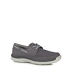 Clarks - Grey 'Marus Edge' shoes