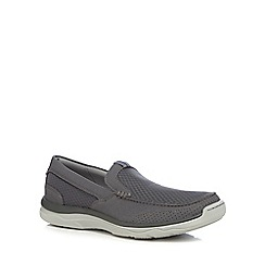 Clarks - Grey 'Cloud Steppers' slip-on shoes