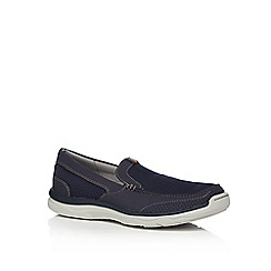 Clarks - Navy 'Marus Step' slip-on shoes