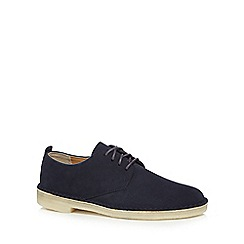 Clarks - Navy suede lace up shoes