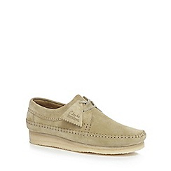 Clarks - Beige suede 'Weaver' shoes