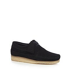 Clarks - Black suede 'Weaver' shoes