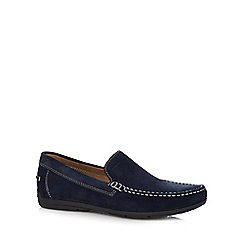 Geox - Navy suede 'Simon' slip-on shoes