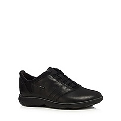 Geox - Black  Nebula  leather trainers