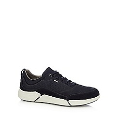 Geox - Navy leather 'Ailand' trainers