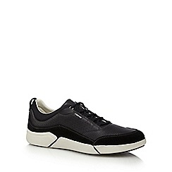 Geox - Black leather 'Ailand' trainers