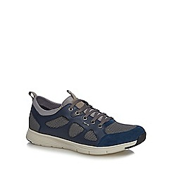 Geox - Blue suede 'Snapfish' lace up trainers