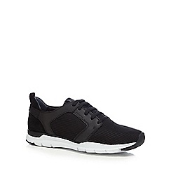 Geox - Black leather blend 'Calar' trainers