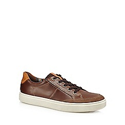 ECCO - Brown leather 'Kyle' trainers