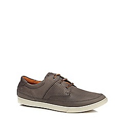 ECCO - Grey leather 'Collin' trainers
