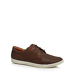 ECCO - Brown leather lace up shoes