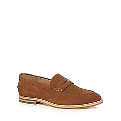 H By Hudson - Brown suede 'Romney' loafers