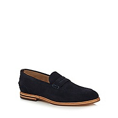 H By Hudson - Navy suede 'Romney' loafers
