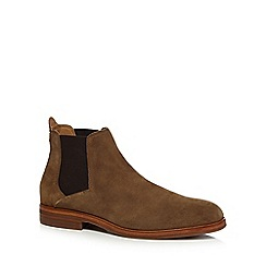 H By Hudson - Natural suede 'Tonti' Chelsea boots