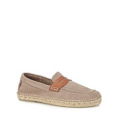 H By Hudson - Grey suede 'Juan' loafers