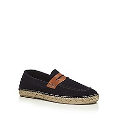 H By Hudson - Navy suede 'Juan' loafers