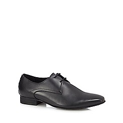 H By Hudson - Black leather 'Leton' Derby shoes