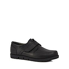 Hush Puppies - Black leather 'Angola' shoes