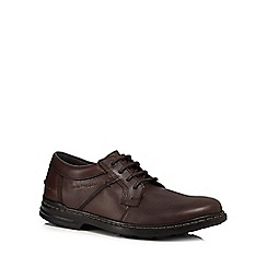 Hush Puppies - Brown leather 'Barnet Hanston' lace up shoes