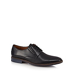 Hush Puppies - Black leather 'Bronson' lace up Derby shoes