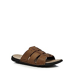Hush Puppies - Tan leather 'Fisher Neville' sandals