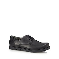 Hush Puppies - Black leather 'Angola' Derby shoes