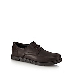 Hush Puppies - Brown leather 'Angola' lace-up shoes