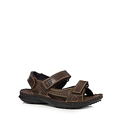 Hush Puppies - Brown leather sandals