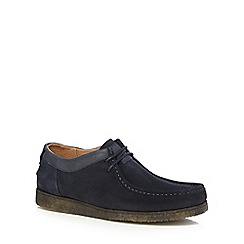 Hush Puppies - Navy suede 'Davenport' lace up shoes