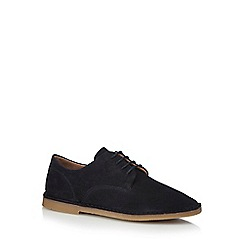 Hush Puppies - Navy suede 'Grant' Derby shoes