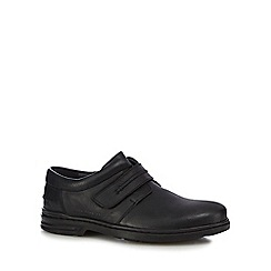 Hush Puppies - Black leather 'Hanston' shoes