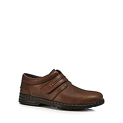 Hush Puppies - Brown leather 'Hanston' shoes
