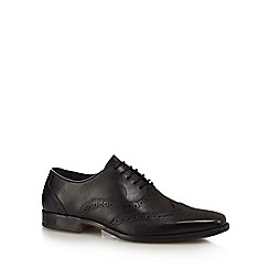 Hush Puppies - Black leather 'Kayanza' Oxford shoes