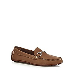 Hush Puppies - Tan suede 'Longin Terveen' slip-on shoes